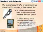 weakest link principle