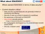 what about esa esoc