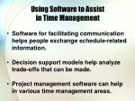 using software to assist in time management