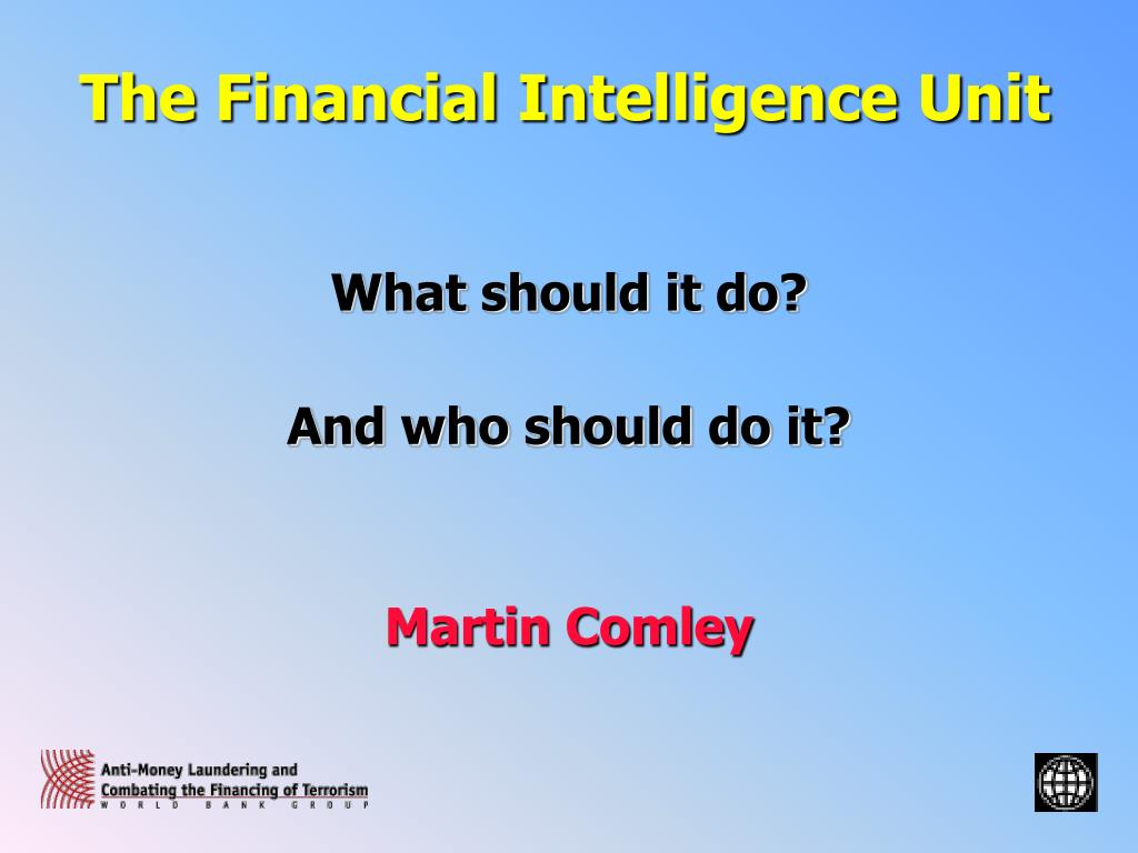 the financial intelligence unit l.