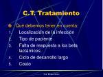 c t tratamiento