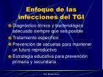 enfoque de las infecciones del tgi