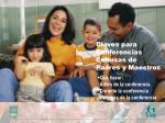 claves para conferencias exitosas de padres y maestros