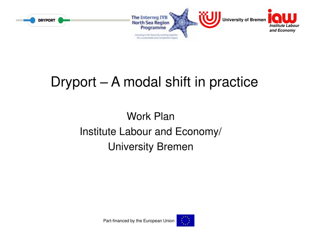 dryport a modal shift in practice l.