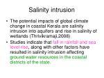 salinity intrusion