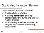 scaffolding instruction review