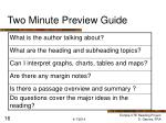 two minute preview guide