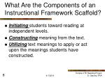 what are the components of an instructional framework scaffold