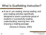 what is scaffolding instruction