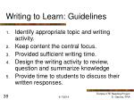 writing to learn guidelines