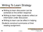 writing to learn strategy36