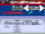 federal disposal cycle