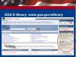 gsa e library www gsa gov elibrary