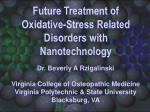 future treatment of oxidative stress related disorders with nanotechnology