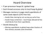 hoard overview