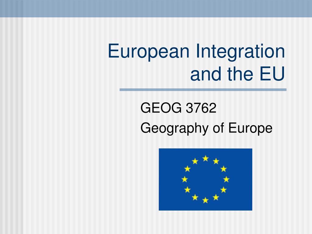 european integration and the eu l.