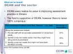 ocan and the sector