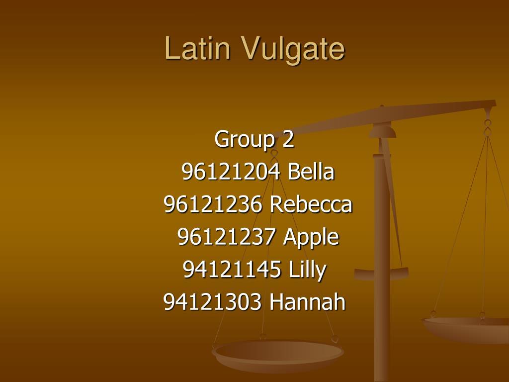 latin vulgate l.