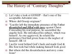 the history of contrary thoughts