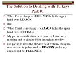 the solution to dealing with turkeys part 18