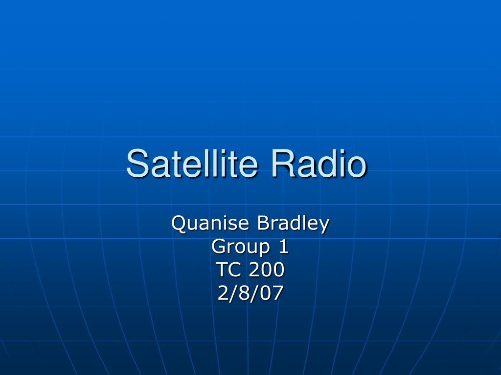 satellite radio l.