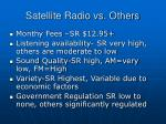 satellite radio vs others