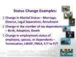 status change examples
