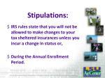 stipulations
