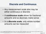 discrete and continuous
