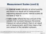 measurement scales cont d