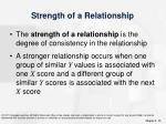 strength of a relationship