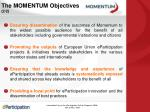 the momentum objectives 2 2