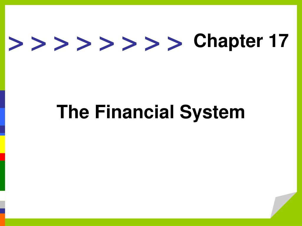 the financial system l.