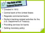 the role of the federal reserve
