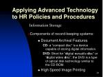 applying advanced technology to hr policies and procedures24