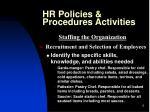 hr policies procedures activities5