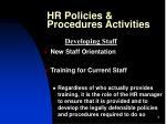 hr policies procedures activities9