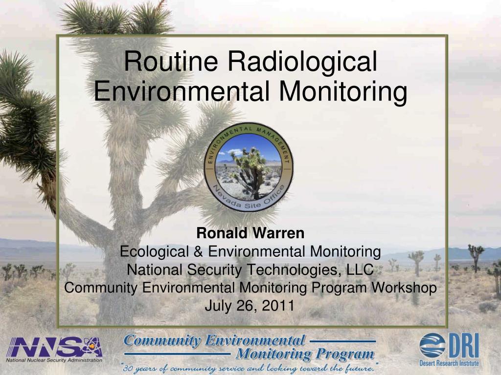 routine radiological environmental monitoring l.