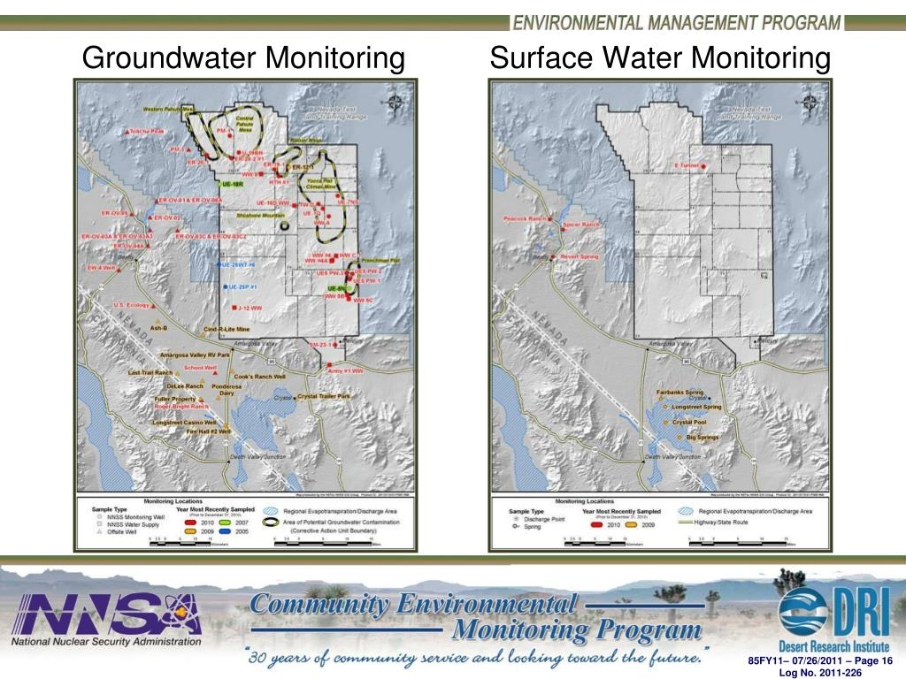 Groundwater Monitoring          Surface Water Monitoring