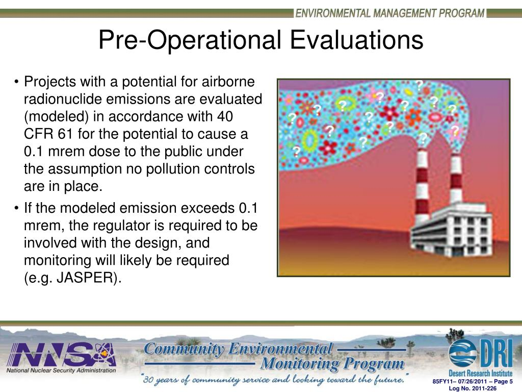 Pre-Operational Evaluations