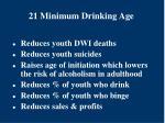 21 minimum drinking age