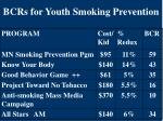 bcrs for youth smoking prevention