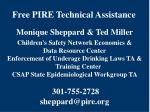 free pire technical assistance