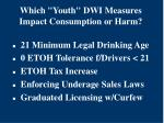 which youth dwi measures impact consumption or harm