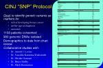 cinj snp protocol