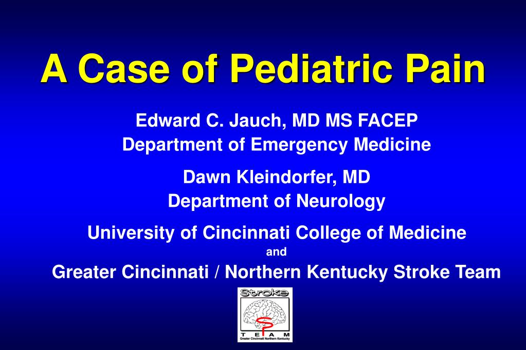 a case of pediatric pain l.