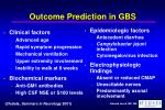 outcome prediction in gbs