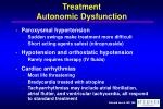 treatment autonomic dysfunction