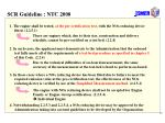 scr guideline ntc 2008