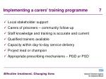 implementing a carers training programme 7